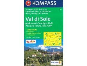 Val di Sole, Madonna di Campiglio, Passo del Tonale, Peio, Rabbi (Kompass 119)