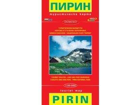 Pirin - turistická mapa