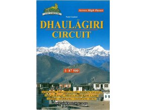 Dhaulagiri Circuit - trekingová mapa
