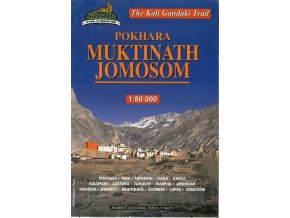 Kali Gandagi trek (Jomsom - Muktinath) - trekingová mapa