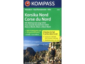 Korsika Nord, Korsika sever (set 3 map, Kompass 2250)