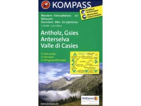 Antholz, Gsies, Anterselva, Valle di Casies (Kompass - 057)