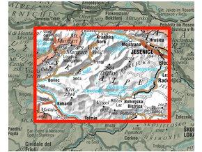 Triglavski narodni park - turistická mapa