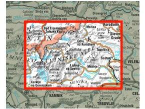 Kamnišsko - Savinjské Alpy - turistická mapa