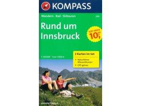 Okolí Innsbrucku - set 2 map (Kompass-290)