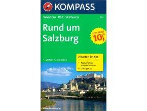 Okolí Salzburku - set 2 map (Kompass-291)