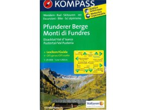 Pfunderer Berge, Monti di Fundres (Kompass - 081)