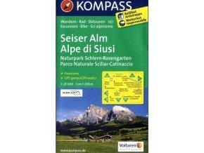Seiser Alm, Alpe de Siusi, Naturpark Schlern - Rosengarten (Kompass - 067)