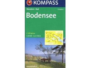 Bodensee, Bodamské jezero (set 2 map, Kompass - 11)