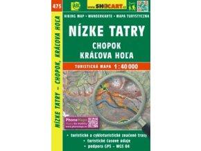 Nízke Tatry, Chopok, Kráľova Hoľa - turistická mapa Shocart č.475