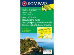 Triest, Laibach, Slowenische Küste (Kompass - 2803)