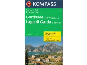 Lago di Garda a okolí (set 3 map, Kompass - 697)