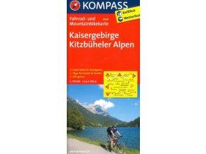 Kaisergebirge, Kitzbüheler Alpen - cyklomapa (Kompass č.3304)