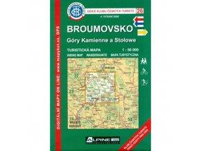 Broumovsko -  Góry Kamienne a Stołowe -  mapa KČT č.26
