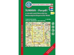 Šumava -  Povydří a Národní park Bavorský les -  mapa KČT č.65