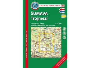 Šumava -  Trojmezí -  mapa KČT č.66