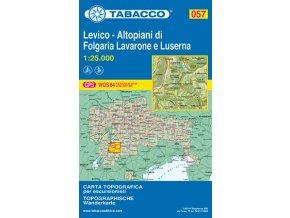 Levico, Altopiani di Folgaria, Lavarone e Luserna (Tabacco - 057)