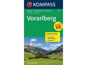 Vorarlberg (set 2 map, Kompass - 292)