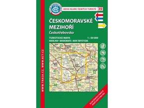 Českomoravské mezihoří -  Českotřebovsko -  mapa KČT č.49