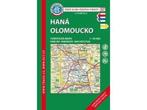 Haná -  Olomoucko -  mapa KČT č.57