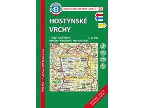 Hostýnské vrchy -  mapa KČT č.94