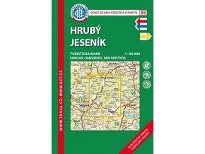 Hrubý Jeseník -  mapa KČT č.55