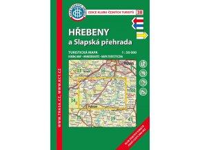 Hřebeny a Slapská přehrada -  mapa KČT č.38