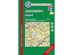 Javorníky západ -  mapa KČT č.95