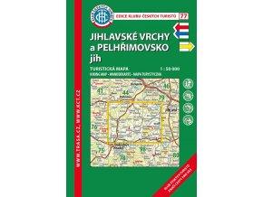 Jihlavské vrchy a Pelhřimovsko jih -  mapa KČT č.77