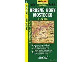 Krušnéhory, Mostecko (turistická mapa č. 8)