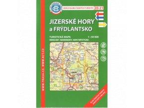 Jizerské hory a Frýdlantsko -  mapa KČT č.20 -  21