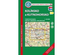 Kolínsko a Kutnohorsko -  mapa KČT č.42