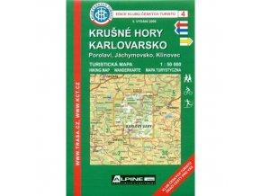 Krušné hory -  Klínovec a Karlovarsko -  mapa KČT č.4