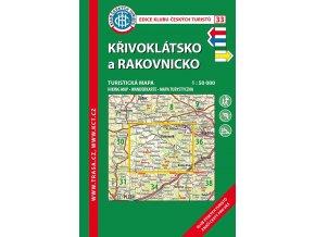 Křivoklátsko a Rakovnicko -  mapa KČT č.33