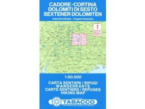 Cadore - Cortina d´Ampezzo / Sextner Dolomiten (Tabacco – 1)