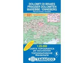 Dolomiti di Braies, Marebbe, Pragser Dolomiten, Enneberg (Tabacco - 031)