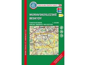 Moravskoslezské Beskydy -  mapa KČT č.96