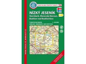 Nízký Jeseník -  mapa KČT č.56