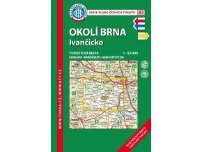Okolí Brna -  Ivančicko -  mapa KČT č.83