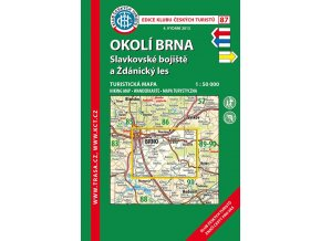 Okolí Brna -  Slavkovské bojiště a Ždánický les -  mapa KČT č.87
