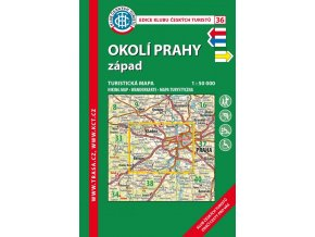 Okolí Prahy, západ -  mapa KČT č.36