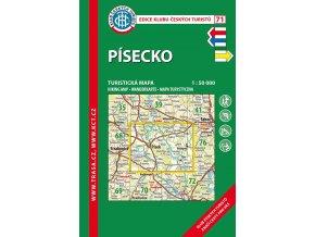 Písecko -  mapa KČT č.71