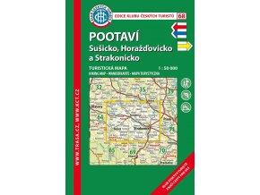 Pootaví -  Sušicko a Strakonicko -  mapa KČT č.68