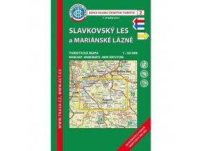 Slavkovský les a Mariánské lázně -  mapa KČT č.2