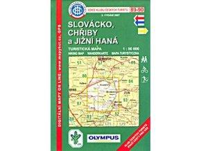 Slovácko -  Chřiby a jížní Haná -  mapa KČT č.89 -  90