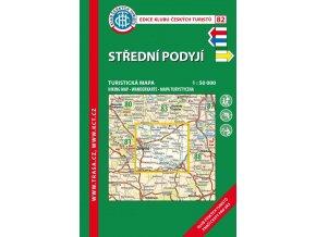Střední Podyjí -  mapa KČT č.82