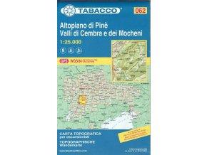 Altopiano di Pine, Valli di Cembra e dei Mocheni (Tabacco - 062)