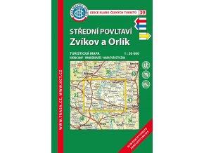 Střední Povltaví -  Zvíkov a Orlík -  mapa KČT č.39