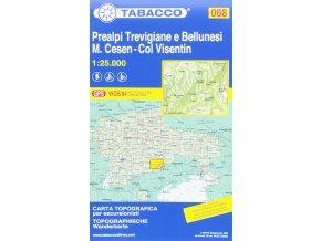 Prealpi Trevigiane e Bellunesi, M. Cesen, Col Visentin (Tabacco - 068)