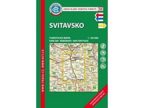 Svitavsko -  mapa KČT č.50